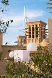 Vind står högt Dubai, UAE Royaltyfria Foton