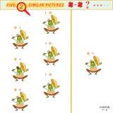 Vind twee gelijkaardige beelden Stock Afbeelding