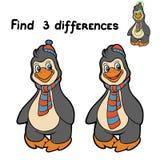Vind verschillen (pinguïn) Royalty-vrije Stock Afbeelding