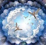Vinda dos anjos ilustração royalty free