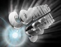 Vinda logo anúncio Fotografia de Stock Royalty Free