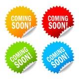 Vinda logo etiquetas Imagem de Stock Royalty Free