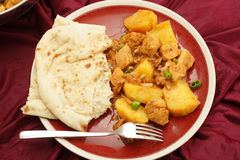 Vindaloo meal from above Royalty Free Stock Photography