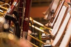 Vindavsnitt under en klassisk konsertmusik arkivfoto