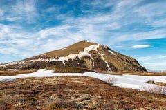 Vindbelgur en Islandia Foto de archivo libre de regalías