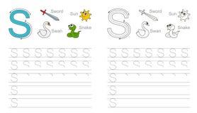 Vindend aantekenvel voor brief S vector illustratie