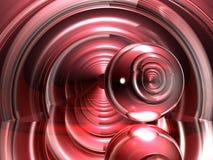 Vindende rode stralen royalty-vrije illustratie