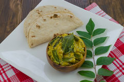 Vindi kadhi with roti. Stock Images