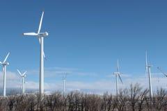 Vindkraft i Kasakhstan Arkivfoton