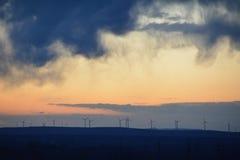 Vindkraftturbiner Royaltyfri Fotografi
