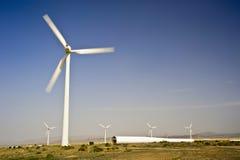 Vindkraftutveckling Royaltyfria Bilder