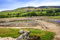 Vindolanda ruins, Hexham, Northumbria, England. Stock Photos