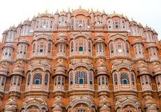 Vindslott av Jaipur, Rajasthan, Indien Royaltyfria Foton