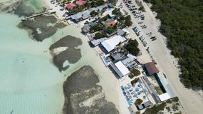 Vindsurfar det karibiska havet för den Bonaire ön lagun Sorobon Arkivfoton