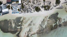 Vindsurfar det karibiska havet för den Bonaire ön lagun Sorobon Royaltyfria Bilder