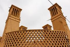 Vindtorn i Yazd, Iran royaltyfri bild