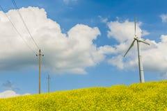 Vindturbin, propeller av vindturbinen fotografering för bildbyråer