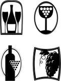 Vine. Logo, emblem for your business Stock Image