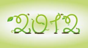 Vine 2012. Vine Happy new year 2012 vector illustration