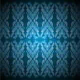 Vine art pattern blue color Stock Photo