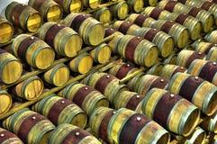Vine barrels. A plenty of vine barrels Stock Image