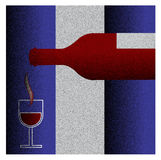 Vine bottle with glass of vine Royalty Free Stock Images