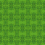 Vine bud leaf green graphic abstract pattern. Vector Stock Image