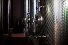 Vine cellar. A brand new vine metal cellar Royalty Free Stock Image