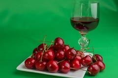 Vine and cherry Stock Photos
