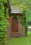 Vine covered church building Royalty Free Stock Photos