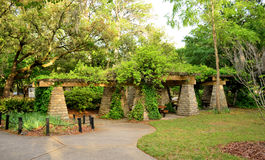 Vine Covered Gazebo Picnic Area Royalty Free Stock Photography