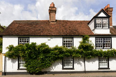 Vine covered old cottage, wargrave Royalty Free Stock Photo