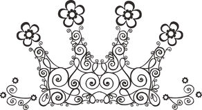 Vine Crown Illustration. Swirly Crown Illustration on White Background Stock Image