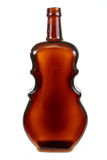 Vine  empty violin-shaped bottle Royalty Free Stock Photo