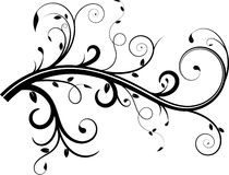 Vine Flourish. With swirls and leaves royalty free illustration