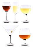 Vine glass set Stock Photo