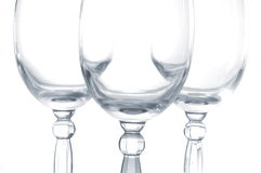 Vine glasses Stock Photo