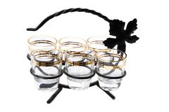 Vine glasses on the stand Stock Photography