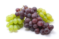 Vine grapes. On white isolated royalty free stock image