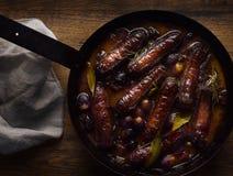 Vine Growers Sausages Stock Photos