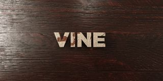 Vine - grungy wooden headline on Maple  - 3D rendered royalty free stock image Stock Photos