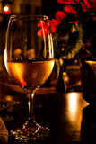 Vine. Home environment with fire, candles and vine Stock Photography