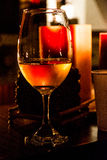 Vine. Home environment with fire, candles and vine Royalty Free Stock Images
