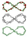 Vine infinity symbols Royalty Free Stock Photography