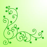 Vine with leaves. Decorative monogram with vine and leaves Royalty Free Stock Image