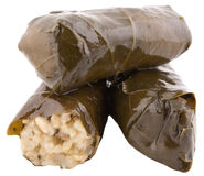 Vine roll leaves. Stuffed with rice Stock Photography