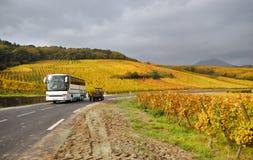 Vine Route Motorway. Scenic Vine Route Motorway in France stock images