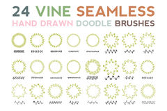 Vine Seamless Brush Stock Photography