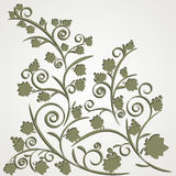 Grape ornament with a shadow. This vine silhouette with shadow. Vector illustration Stock Image