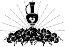 Vine symbol stencil Royalty Free Stock Photo